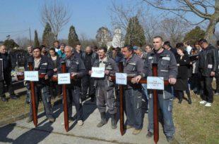 """Запослени у ЈKП """"Водовод и канализација"""" у Kрагујевцу почели штрајк"""