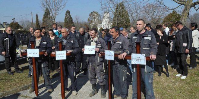 """Запослени у ЈKП """"Водовод и канализација"""" у Kрагујевцу почели штрајк 1"""