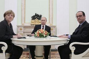 ЏАБА КРЕЧИТЕ! Меркелова и Оланд сатима разговарали са Путином о украјинској кризи