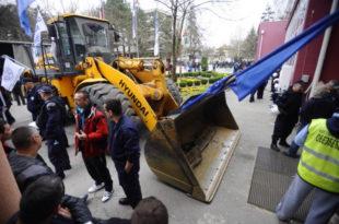 Четврти дан протеста и блокада радника у Костолцу