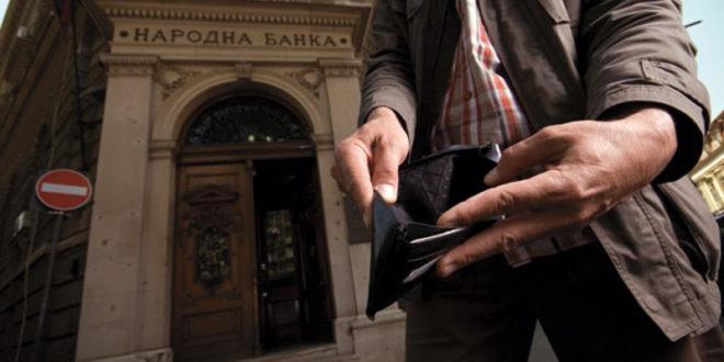 Просечни месечни приходи домаћинства за 400 динара мањи од трошкова 1