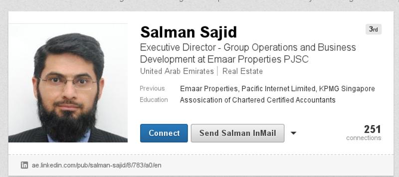 Директор привредног друштва EAGLE HILLS PROPERTIES - Мохамед Салман Саџид