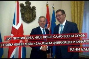 Југослав Ћосић: Тони Блер, главни заговорник бомбардовања, данас je Вучићев саветник