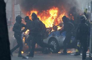 Франкфурт у пламену! На демонстрацијама испред Европске централне банке ухапшено преко 350 демонстраната (видео) 1