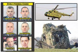Нико још није одговарао за пад војног хеликоптера и смрт седам људи