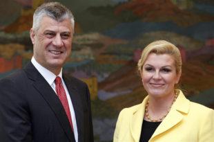 Терориста Tачи са хрватским државним врхом о jачању сарадње
