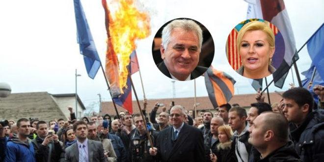 Николић се извинио Колинди зато што је Шешељ запалио хрватску заставу, обећао јој да ће Шешељ бити кажњен!