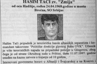 Терористу и касапина Тачија чека затвор у Београду! 6