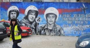 У центру Ужица осликан мурал са портретима српских пилота погинулих у ваздушним борбама са НАТО зликовцима 10