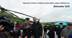 Док су људи прошле године у Обреновцу умирали Вучић се блесаво кревељио и сликао испред хеликоптера! 9