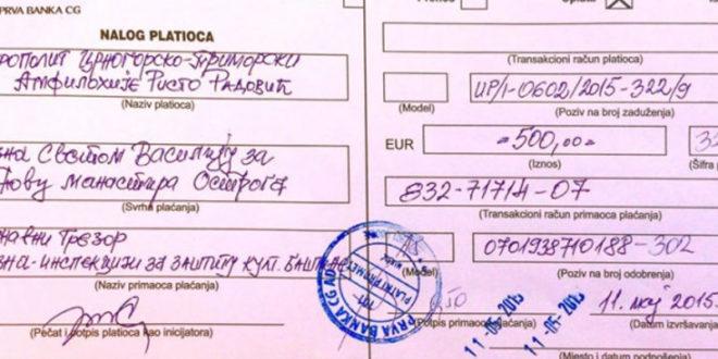 ЗЕМЉА ЧУДА: Милогорци казнили Светог Василија Острошког са 500 евра! 1