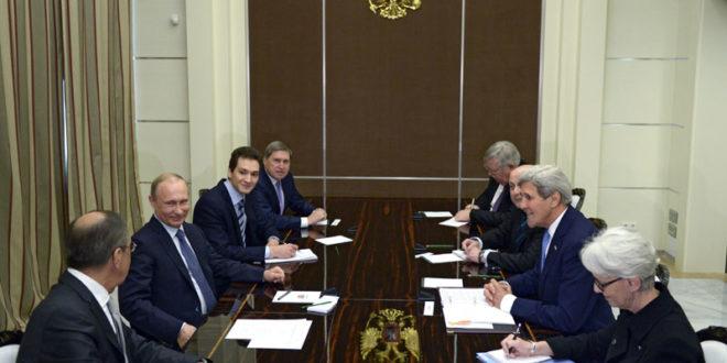 """САМИТ РУСИЈЕ И САД: Разговори Путина и Керија, Лавров дошао на преговоре за воланом беле """"победе"""" 1"""