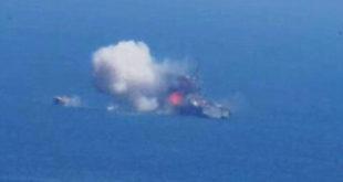 Ракетни напад радикалних исламиста на египатски патролни брод у Медитерану (видео)