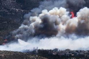 Атина у пламену - пожар захватио насељене делове града