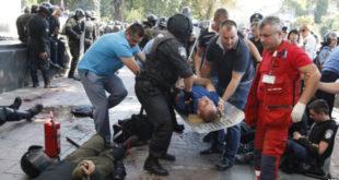 Украјина: У демонстрацијама испред зграде Врховне Раде сукоби - повређено више од 100 особа, има и погинулих 10