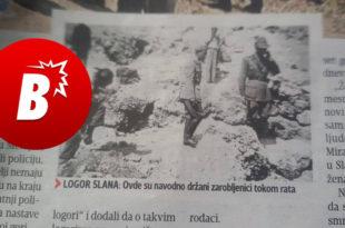"""Погледајте како про-усташки """"Блиц""""  за логор Слана где је побијено преко 38.000 хиљада Срба каже """"Овде су НАВОДНО држани заробљеници"""""""