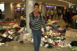 """Погледајте како је """"избеглица"""" у Будимпешти мађарског новинара """"частио"""" одсецањем главе (видео)"""