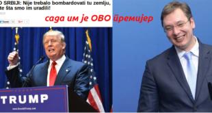"""Председнички кандидат Трамп о Србији: """"није требало бомбардовати ту земљу, погледајте шта смо им урадили"""" – сада им је ОВО премијер"""