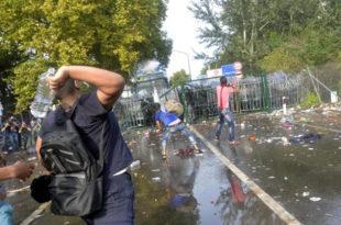 Mађарска позива Србиjу да делуjе против насилних миграната!
