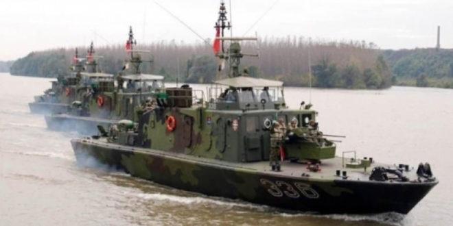 Војни бродови Србије и Мађарске ушли у Хрватску 1