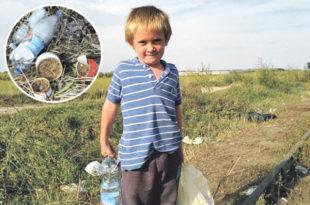 УБОГА СИРОТИЊА: Дечак (8) скупља отпатке које су Сиријци побацали да не умре од глади!