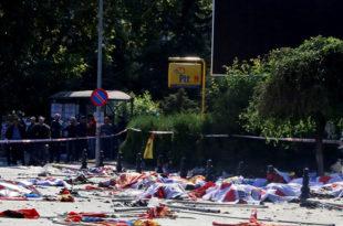 ТУРСКИ ДРЖАВНИ ТЕРОР! Бомбама на прокурдске демонстрације, најмање 86 мртвих и 126 рањених