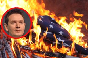 Заменику председника СРС Немањи Шаровићу месец дана затвора због паљења америчке заставе!