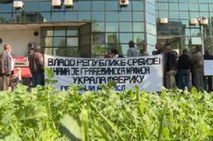Радници протестовали испред СНС-а, напредњаци их игнорисали