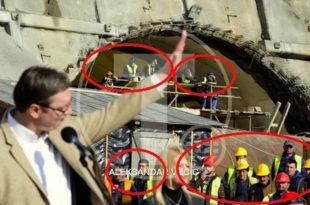 """И радници на Коридору 11 коју прокопавају тунел """"Савинац"""" дочекали Вучића као да су му дошли на парастос! 10"""