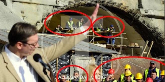 """И радници на Коридору 11 коју прокопавају тунел """"Савинац"""" дочекали Вучића као да су му дошли на парастос! 1"""