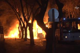 Моћна експлозија у Анкари: У терористичком нападу погинуло 28 турских официра, 61 рањен (видео)