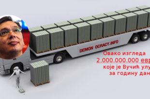 Вучић за годину дана повећао јавни дуг за две милијарде евра