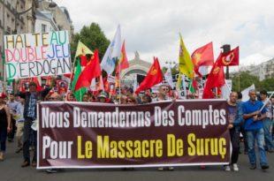 Париз: Полиција силом растерала курдске демонстранте који протестују због турских напада на Курде