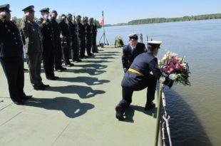 Припадници Речне флотиле данас су обележили седамдесет пету годишњицу херојског отпора фашистичком агресору 23