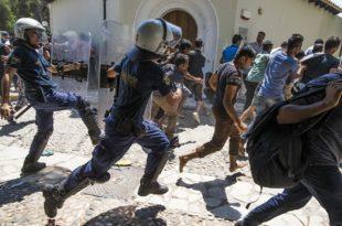 Грчка: Избио пожар у мигрантском кампу у близини Солуна, почеле насилне демонстрације миграната