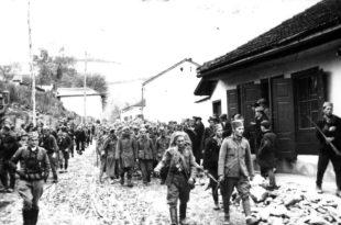 У Москви су заробљене Немце спроводили 1944. године док су четници немачке заробљенике у Србији спроводили већ 1941. године