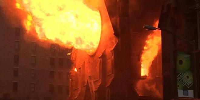 Изгорела црква Светог Саве у Њујорку (видео)