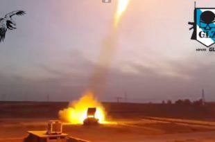 Употреба ракетног бацача пламена ТОС 1 Буратино у Сирији (видео)