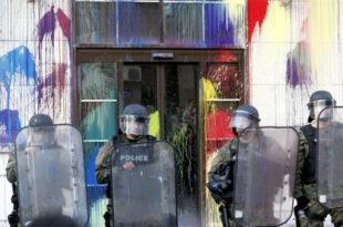 """Македонски шарени прелазе на """"герилске акције"""": Блокада главних саобраћајница и установа! 4"""