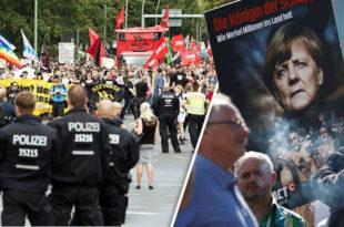 НЕМАЧКА НА НОГАМА Почеле демонстрације против Меркелове (видео)