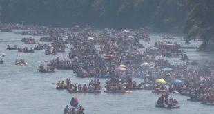Највећи карневал на води - 20.000 људи пловило Дрином (видео)
