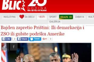 НСПМ: Како су режимски медији лажирали Бајденов говор у Приштини