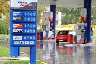 Потрошња горива у Србији пала за 10 одсто