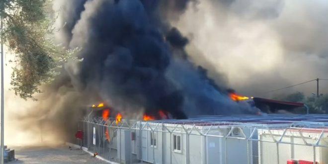 Мигранти запалили азилантски центар ЕУ на Лезбосу (видео)