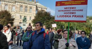 Демонстранти у Загребу траже раскид Ватиканских уговора 4