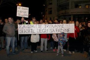 Протест и протестна шетња на Чукаричкој Падини, 26.11.2016. године (видео)
