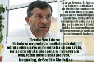 Др Срећко Сладољев о забрањеном интервјуу; Нисам у опасности, вакцине у игли јесу