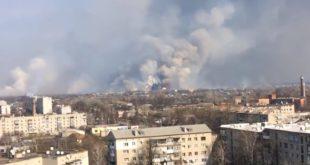 Огромна експлозија највећег складишта муниције у Украјини (видео)