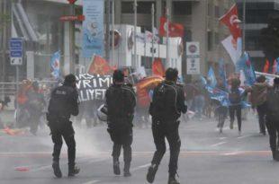 Ердоган забранио првомајску шетњу: Полиција разбила поворку (видео) 1