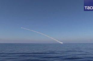 """Руска морнарица из источног Медитерана ракетама """"Калибар"""" тукла положаје ДАЕШ-а источно од Палмире (видео)"""